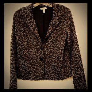 GUC Charter Club Leopard Print Button Up Blazer